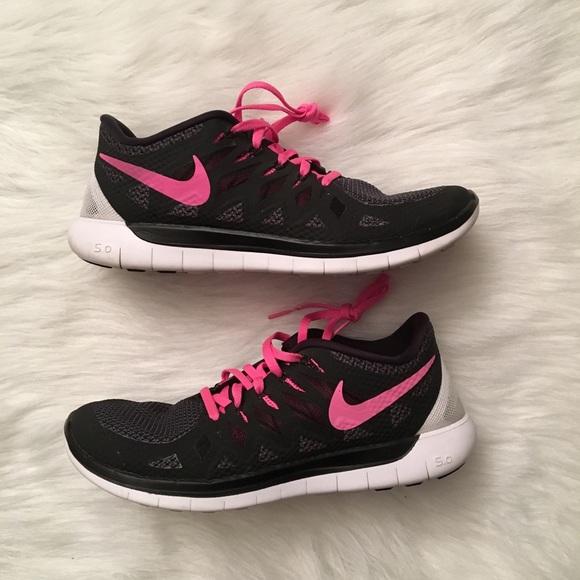 Nike Free 5.0 Running schuhe Black Pink White