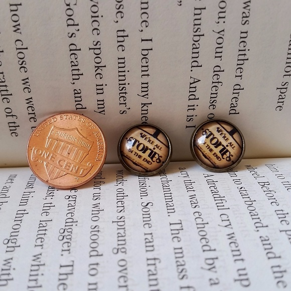 "Jewelry - ""We're All Stories In The End"" Stud Earrings"