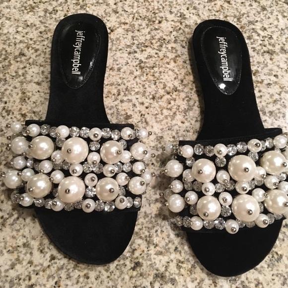 8b609957a04 Jeffrey Campbell Shoes - Jeffrey Campbell Facil pearl Velvet Slides new