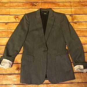 Stella McCartney Black/White One Button Blazer