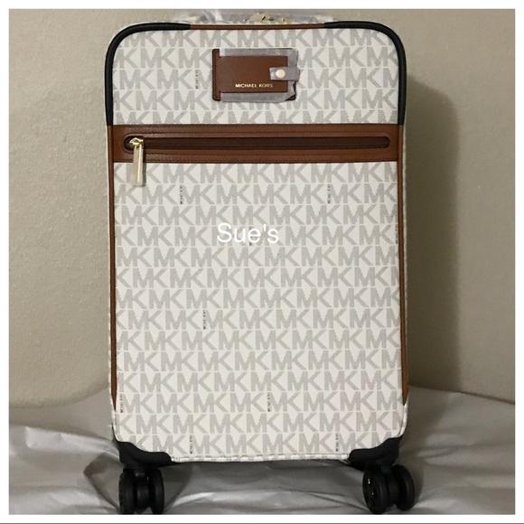 b15943b64 Michael Kors Bags   Nwt Mk Travel Trolley Luggage Vanilla   Poshmark