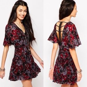 Free People Purple & Maroon Perfect Dream Dress