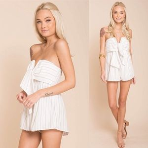 NWT Striped Playsuit
