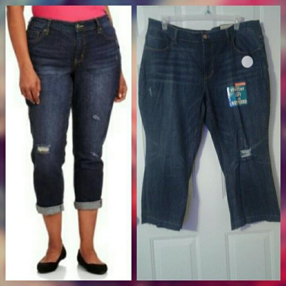 ae33a440c Faded Glory Jeans   Plus Size Slim Boyfriend Crop Jean   Poshmark