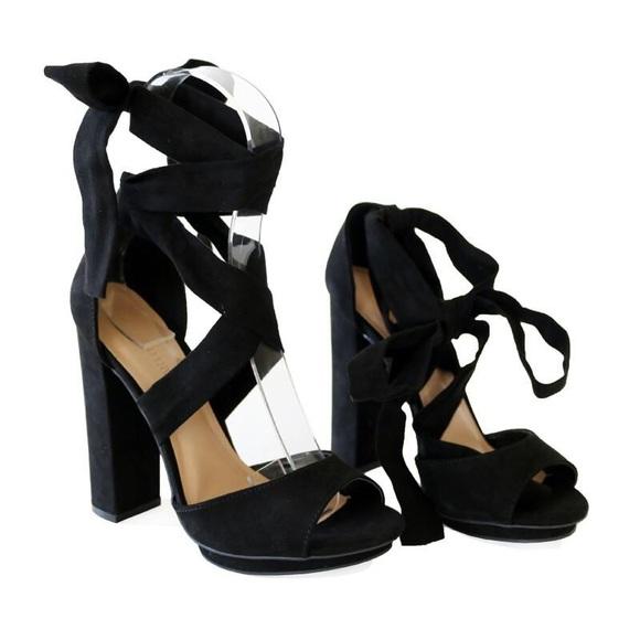 2d68d63ca pace-01 black suede Heel sandals