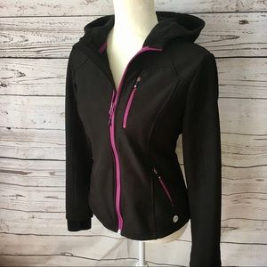Mondetta black athletic / sportswear hoodie jacket