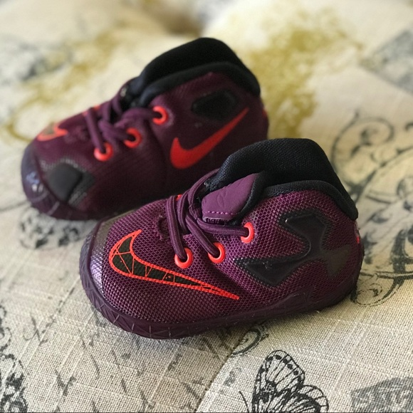 low priced 0e161 f8feb Baby infant Lebron James soft sole💜🌈💜