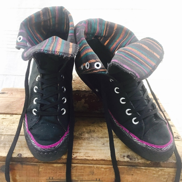 6f757587af86 Converse Shoes - Converse   Chuck Taylor   Fold Down High Tops