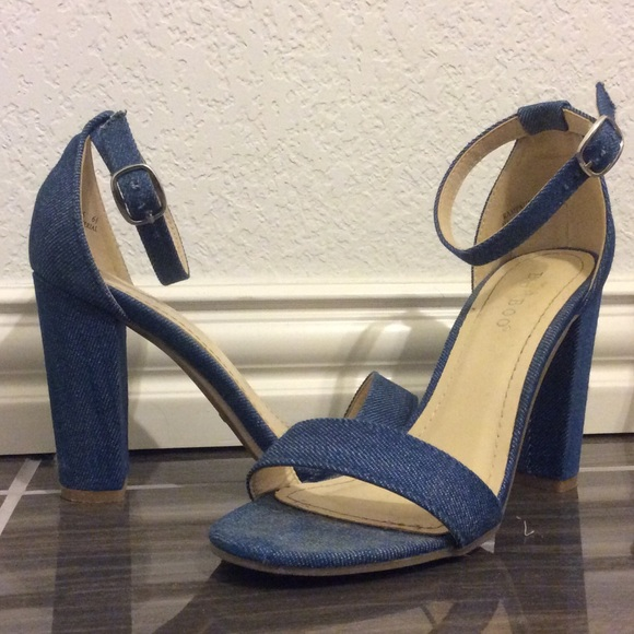 60% off BAMBOO Shoes - Denim (Blue Jean) Heels from Bianca's ...