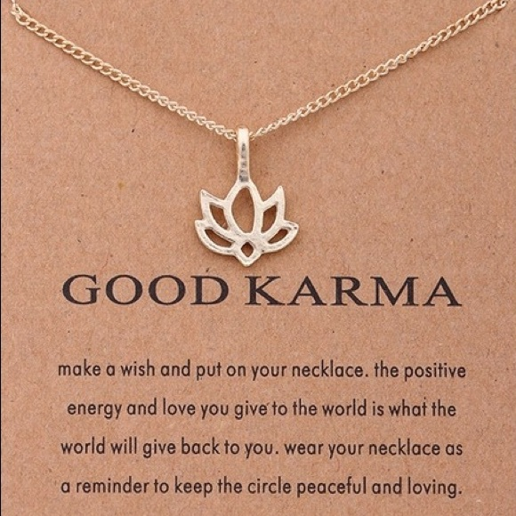 Dogeared Jewelry New Good Karma Gold Lotus Flower Necklace Gift