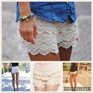 Pants - Crochet shorts