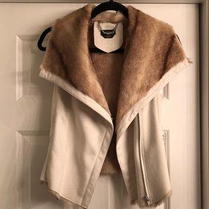 Bebe suede/ fur vest