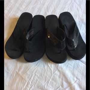 Two pairs of Thong Style Shoes