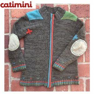 Fun CATIMINI Boys Wool Sweater Sz. 10