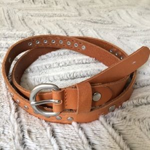 Madewell brown leather studded belt