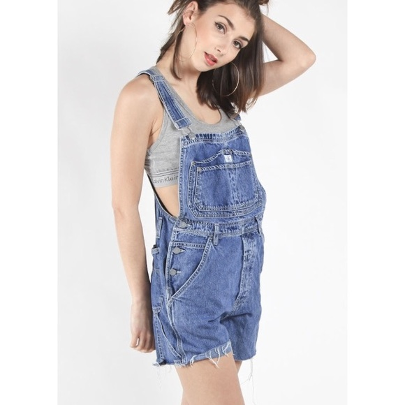 6ce72a59 Calvin Klein Shorts | Nwt True Vintage 90s Ck Short Overalls | Poshmark