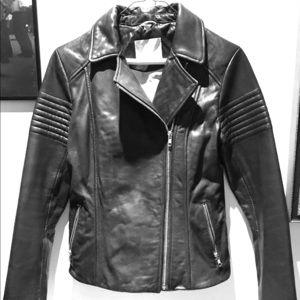 Soia & Kyo Black leather Moto jacket