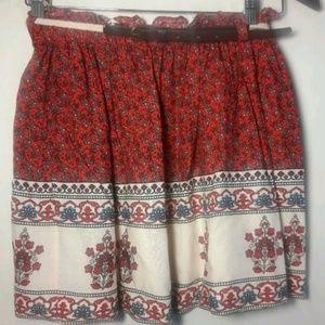 🦋Forever 21 Red White Blue Flowy Mini Skirt Sz XS