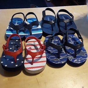4 Pairs of Baby Boy Sandals Size 3