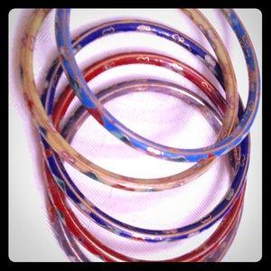 Jewelry - Five bangle bracelets. High quality