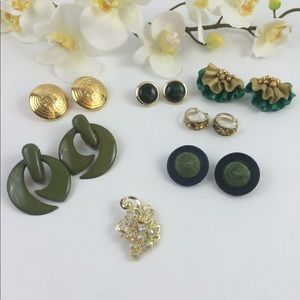 Jewelry - Earrings lot I green colors 6 earrings collection