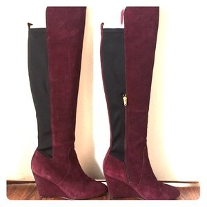 Charles by Charles David red wine wedge boot