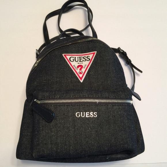 Guess Bags   Zayn Backpack Purse Bag Retro Triangle Logo   Poshmark d5a4a2ba4a