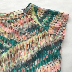 Zara Watercolor Flowy Open Back Top