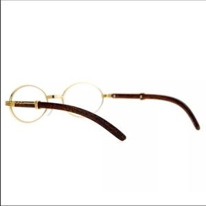 226166db1f0 Modern Accessories - Yellow Gold Vintage Frame Migos Clear Oval Glasses