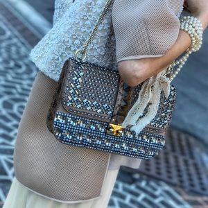 Valentino Garavani Lock Rockstud Trim Flap Bag