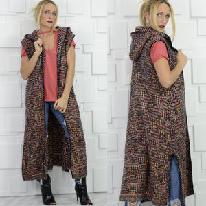 Knit longline Vest