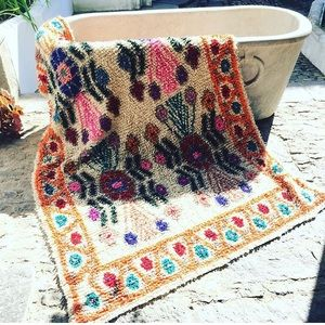 Other Sold Wool Shag Rug Teal Color Poshmark