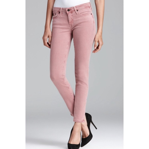 Big Star Denim - Alex Mid Rise Skinny Jeans In Rose Pink c0195965f