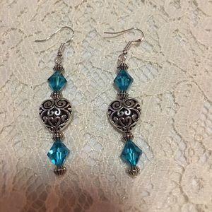 Jewelry - Handmade sterling silver dangle earrings