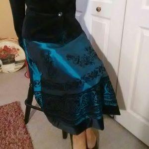 Satin & Velvet Skirt