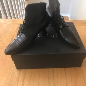 Chanel lace up ankle booties size 36