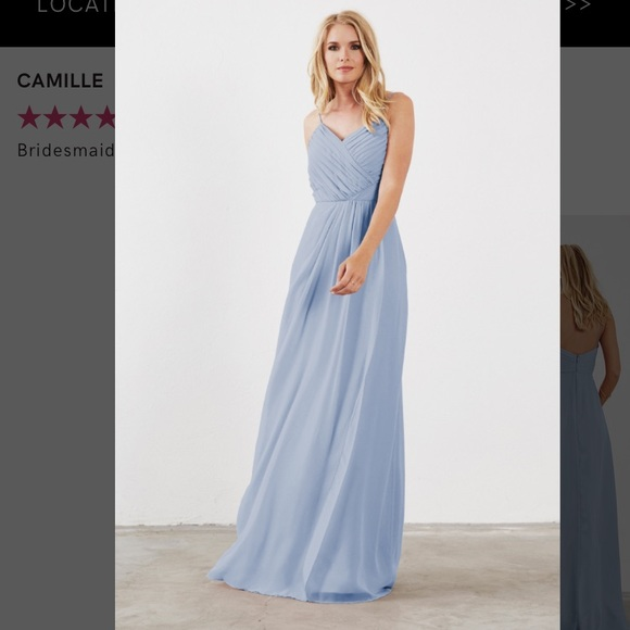 0d76fc521b9 Cloudy Blue Bridesmaid Dress (Style