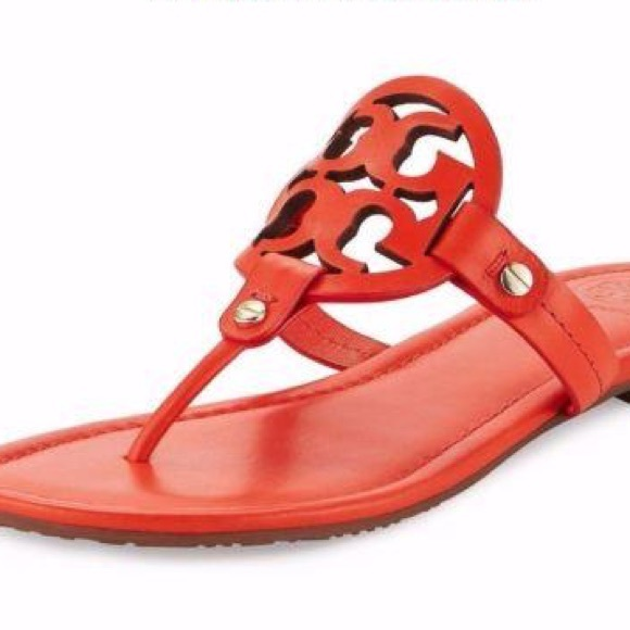 6232120551b Poppy red orange Tory Burch Miller Sandals. M 59f35c1836d594bced015a8e