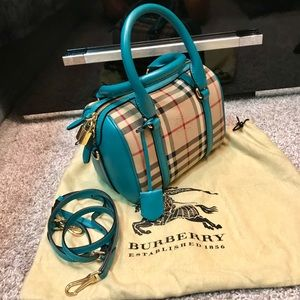 b3292dd41e3e Burberry Bags - BURBERRY Alchester Honey Aqua Green satchel