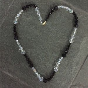 Jewelry - Beautiful black and crystal faceted bead necklace