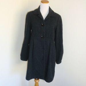 Motherhood Maternity Wool Coat S EUC Charcoal Gray