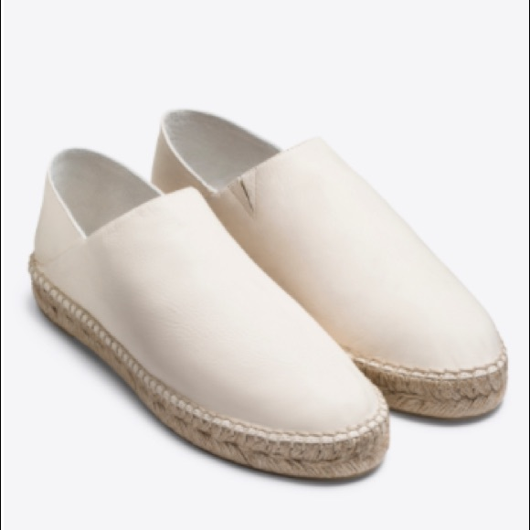 Buy Cheap Brand New Unisex Vince. Woman Rachael Leather Espadrilles White Size 10 Vince Largest Supplier For Sale Latest Clearance Good Selling PNoKWP