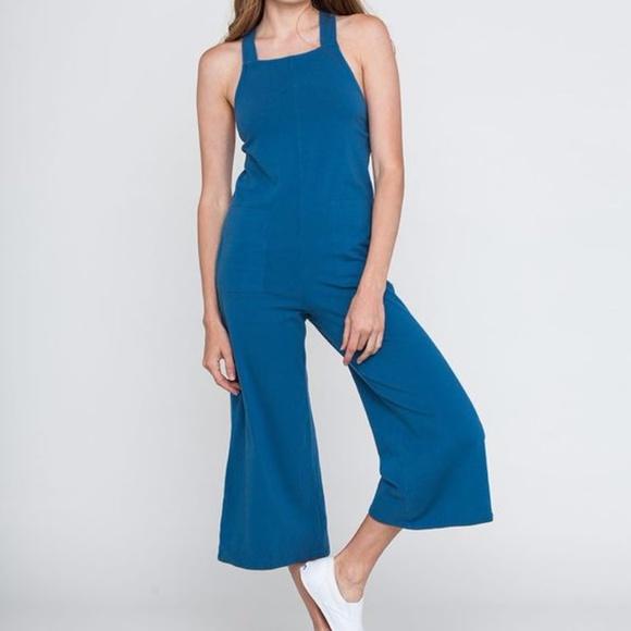 3535f25e5944 Backbeat Rags Pants - Backbeat Rags Cropped Organic Cotton Jumpsuit