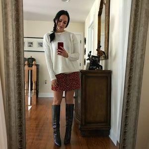 Burberry Brown Leather Heel Boots