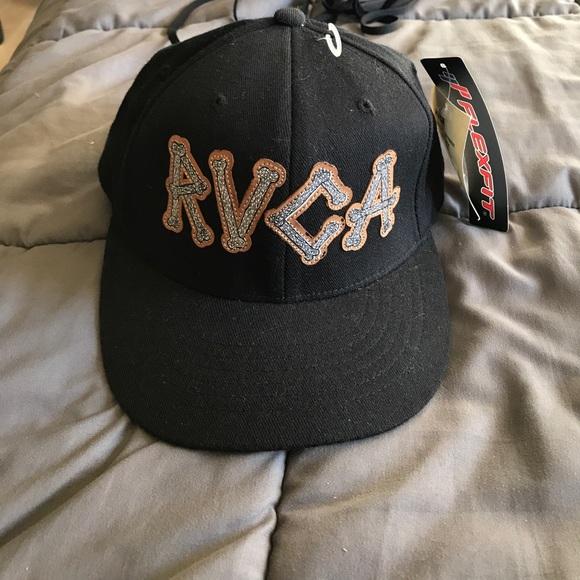 New RVCA Flexfit baseball cap hat size s m cbea2a92d6e