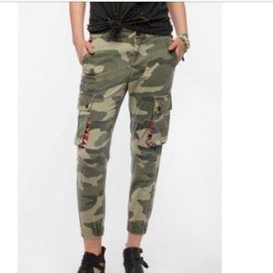 BDG Camo Tribal Cropped Pants