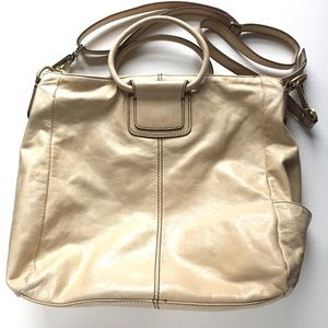 754964cc73218f HOBO Bags | Sheila Leather Convertible Crossbody Pumice | Poshmark