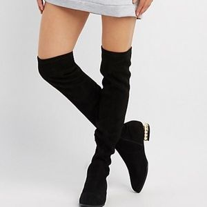 Shoes - Pearl Heel Over the Knee Boots 🎀