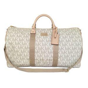 Michael Kors Signature Weekender Duffle Bag Cream