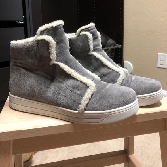 Prada Shoes   Prada Shearling High Tops